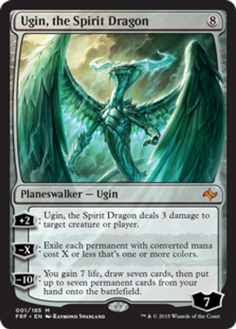 MtG Fate Reforged Mythic Rare Ugin, the Spirit Dragon #1