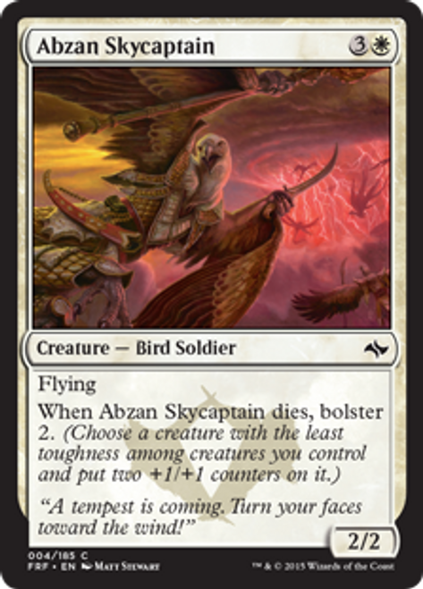 MtG Fate Reforged Common Abzan Skycaptain #4