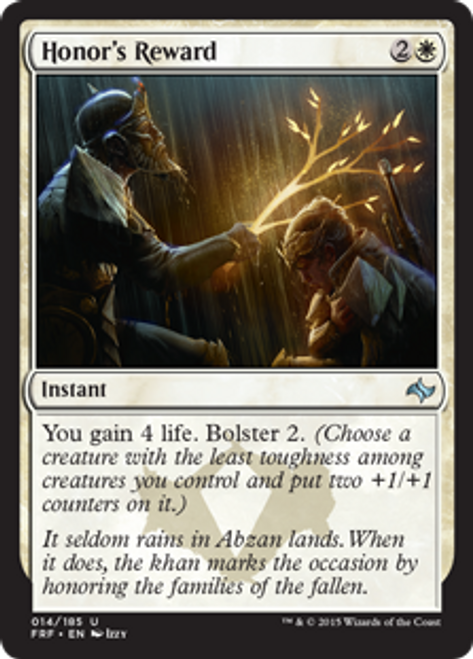 MtG Fate Reforged Uncommon Honor's Reward #14