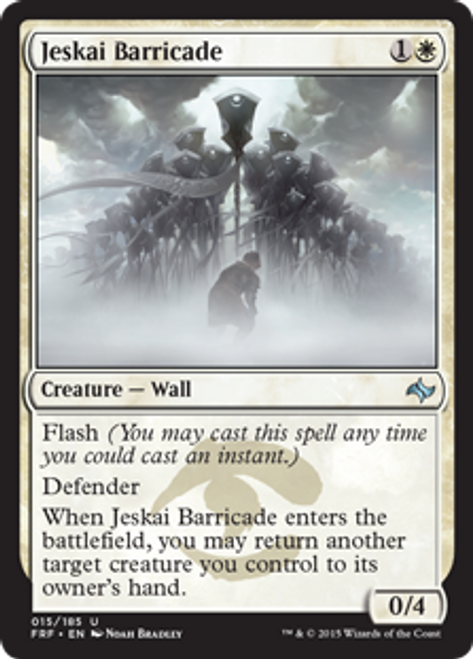 MtG Fate Reforged Uncommon Jeskai Barricade #15