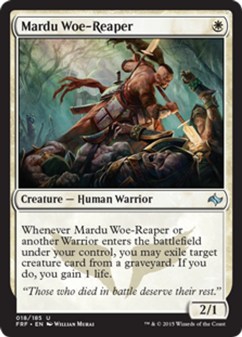 MtG Fate Reforged Uncommon Mardu Woe-Reaper #18