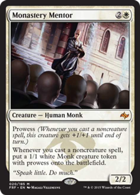 MtG Fate Reforged Mythic Rare Monastery Mentor #20