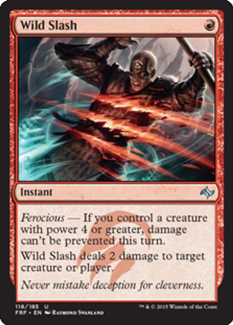 MtG Fate Reforged Uncommon Wild Slash #118