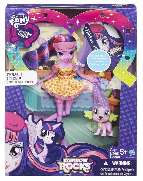 My Little Pony Equestria Girls Rainbow Rocks Twilight Sparkle & Spike the Puppy Doll Set
