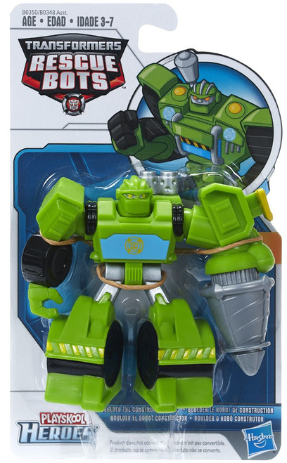 Transformers Playskool Heroes Rescue Bots Boulder the Construction-Bot Action Figure [2015]