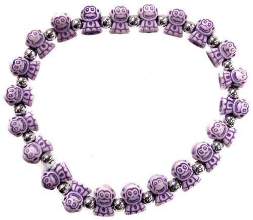 Monkeyz Purple Monkeys Bracelet
