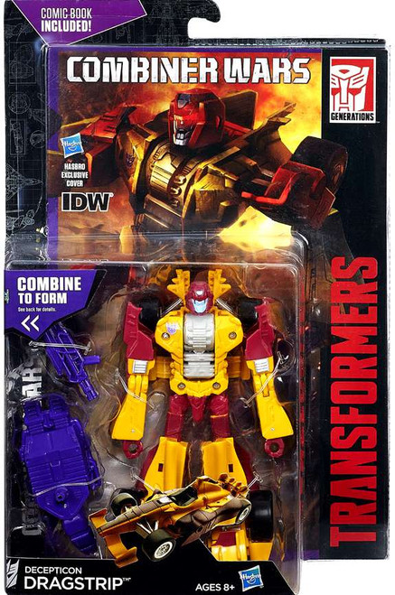 Transformers Generations Combiner Wars Decepticon Dragstrip Deluxe Action Figure [Comic Book Included]