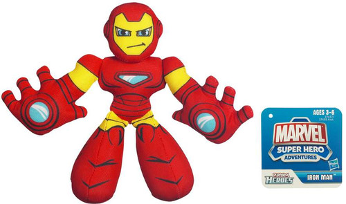 Marvel Playskool Heroes Super Hero Adventures Iron Man Bean Bag Plush