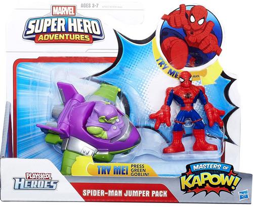 Marvel Playskool Heroes Super Hero Adventures Spider-Man Jumper Pack Figure Set