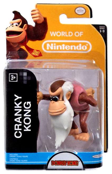World of Nintendo Donkey Kong Country Tropical Freeze Cranky Kong 2.5-Inch Mini Figure