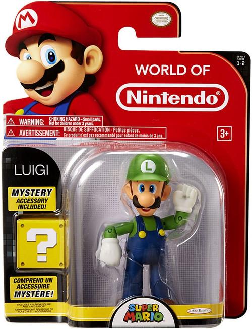 World of Nintendo Super Mario Series 2 Luigi Action Figure [with 1 Up]