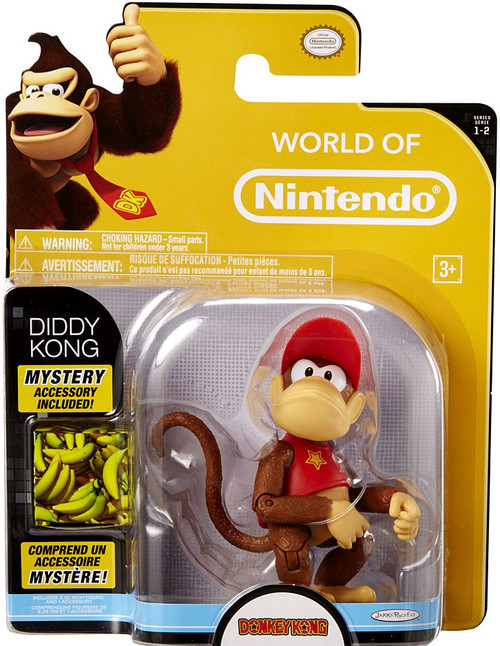 World of Nintendo Donkey Kong Series 2 Diddy Kong Action Figure [With Banana]
