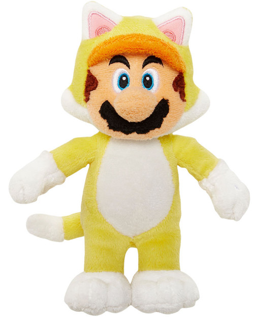 World of Nintendo Super Mario Cat Mario 7-Inch Plush