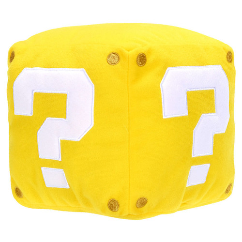Super Mario Question Coin Box 5-Inch Plush [with Sound FX]