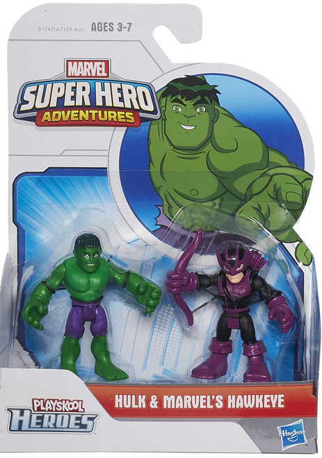 Playskool Heroes Super Hero Adventures Hulk & Marvel's Hawkeye Action Figure 2-Pack