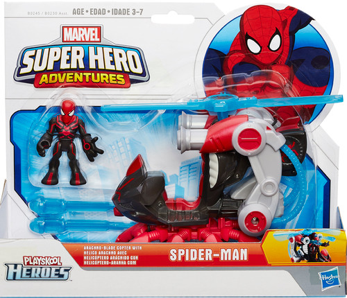Marvel Playskool Heroes Super Hero Adventures Spider-Man with Arachno-Blade Copter Action Figure Set