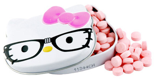 Hello Kitty Strawberry Nerd Sours Candy Tin [Pink Bow]