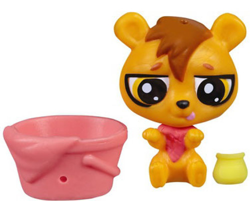 Littlest Pet Shop The Littlest Pets Collection Series 2 Orange Bear with Bucket 1-Inch [Loose]
