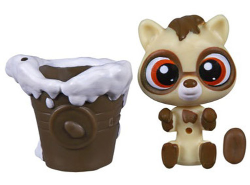 Littlest Pet Shop The Littlest Pets Collection Series 2 Tan Raccoon with Bucket 1-Inch [Loose]