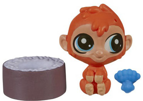 Littlest Pet Shop The Littlest Pets Collection Series 2 Orange Monkey with Bowl 1-Inch [Loose]