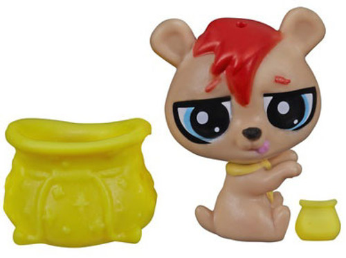 Littlest Pet Shop The Littlest Pets Collection Series 2 Tan Bear with Pot 1-Inch [Loose]
