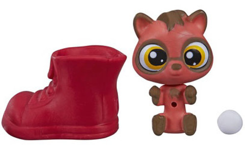 Littlest Pet Shop The Littlest Pets Collection Series 2 Red & Brown Raccoon with Boot 1-Inch [Loose]