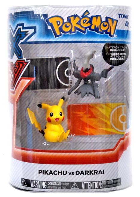 Pokemon XY Pikachu vs. Darkrai Figure 2-Pack