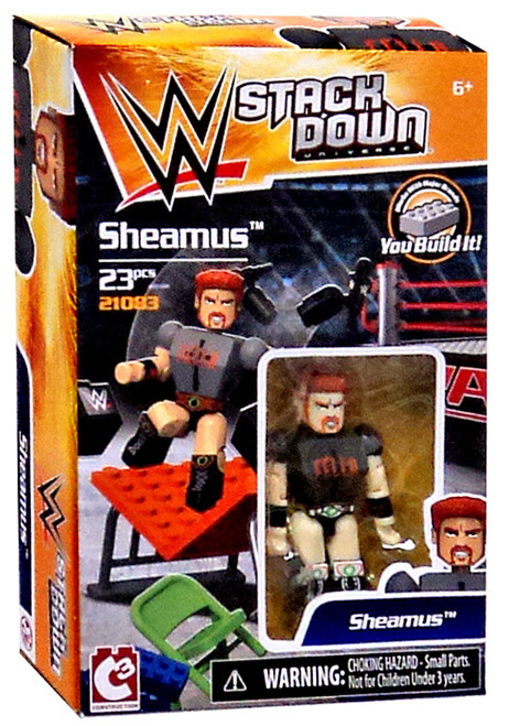 WWE Wrestling C3 Construction StackDown Sheamus Playset #21083