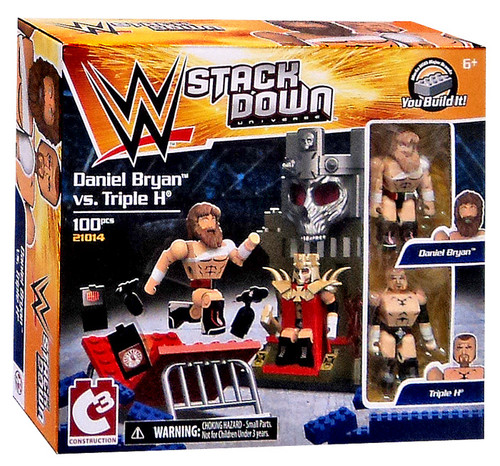 WWE Wrestling C3 Construction StackDown Daniel Bryan vs Triple H Playset #21014