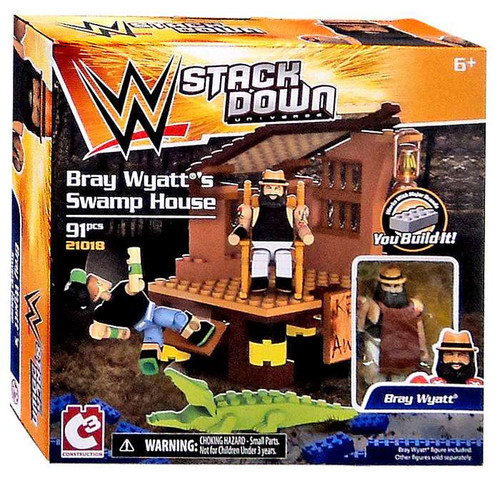 WWE Wrestling C3 Construction StackDown Bray Wyatt's Swamp House Playset #21018