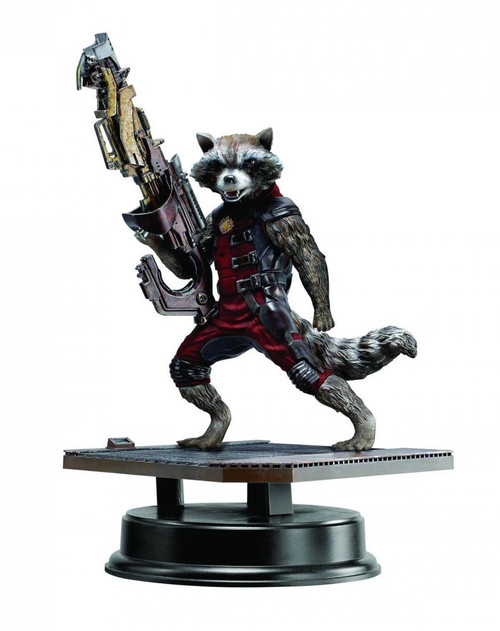 Guardians of the Galaxy Marvel Super Heroes Vignette Rocket Raccoon Collectible Figure [Red Suit Variant]
