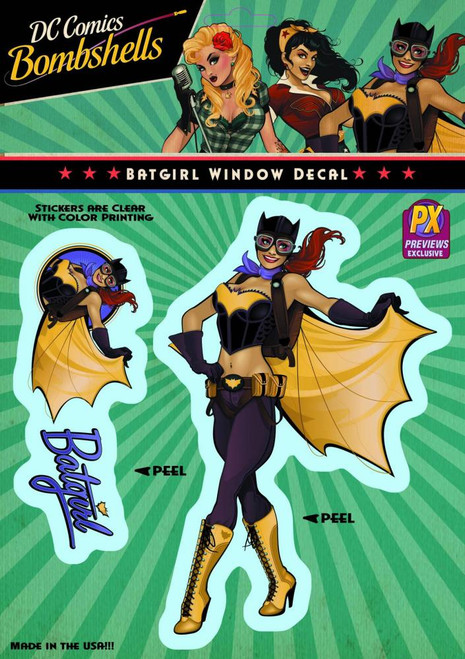 DC Bombshells Batgirl Exclusive Vinyl Window Decal