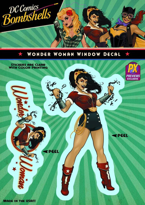 DC Bombshells Wonder Woman Vinyl Window Decal