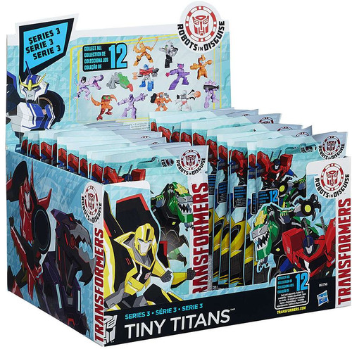 Transformers Robots in Disguise Tiny Titans Series 3 Mystery Box [24 Packs]