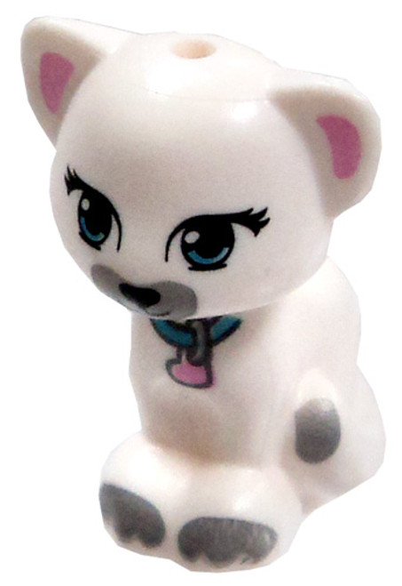 LEGO Sitting White Cat Loose Accessory [Printed Face Loose]