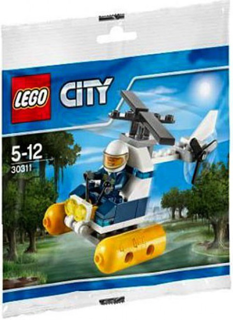 LEGO City Swamp Police Helicopter Mini Set #30311 [Bagged]