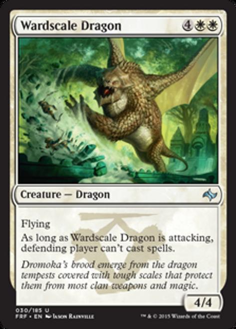 MtG Fate Reforged Uncommon Foil Wardscale Dragon #30