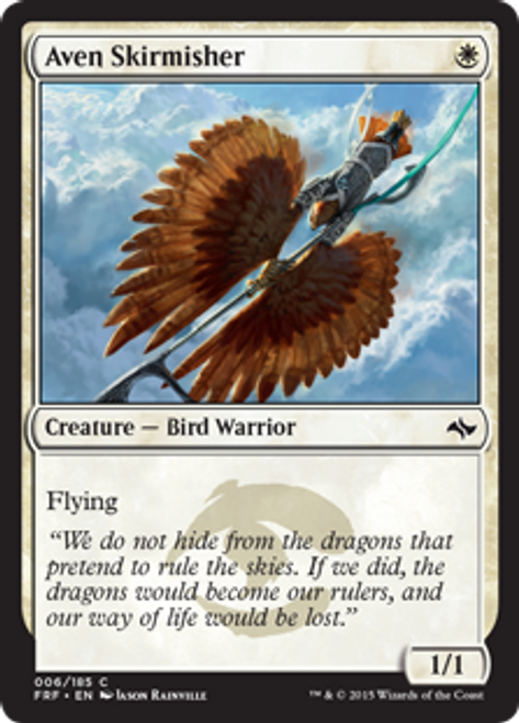 MtG Fate Reforged Common Foil Aven Skirmisher #6