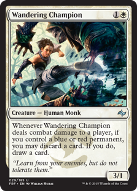 MtG Fate Reforged Uncommon Foil Wandering Champion #29
