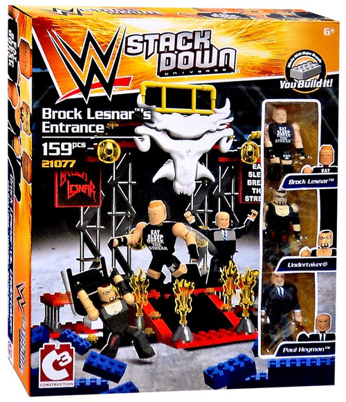 WWE Wrestling C3 Construction StackDown Brock Lesnar's Entrance Playset #21077