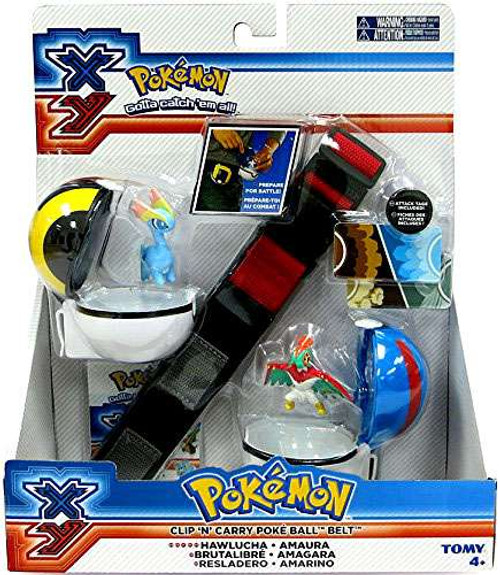 Pokemon XY Hawlucha & Amaura Clip 'n' Carry Poke Ball Belt
