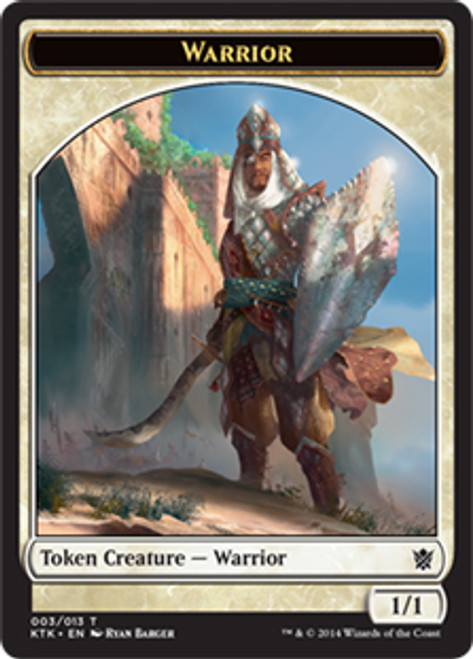 MtG Khans of Tarkir Warrior Token