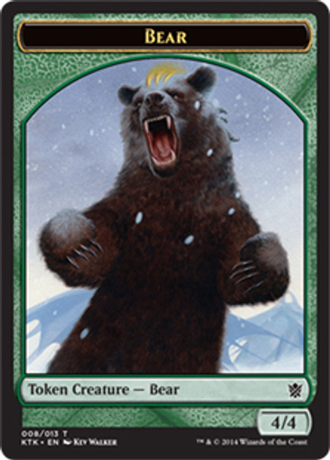 MtG Khans of Tarkir Bear Token