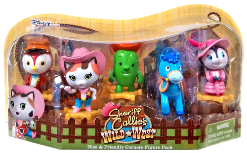 Sheriff Callie's Wild West Disney Junior Nice & Friendly Corners 2.5-Inch Figure 5-Pack