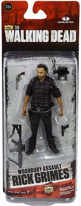 McFarlane Toys The Walking Dead AMC TV Series 7.5 Rick Grimes Action Figure [Woodbury Assault]