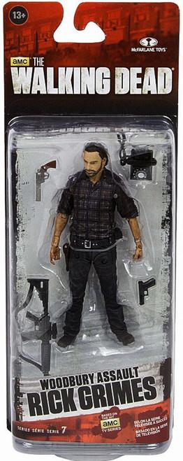 McFarlane Toys The Walking Dead AMC TV Series 7.5 Rick Grimes Action Figure [Woodbury Assault]