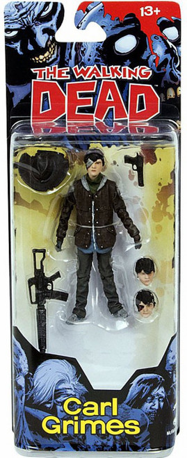 McFarlane Toys The Walking Dead Comic Series 4 Carl Grimes Action Figure [Alternates Heads]
