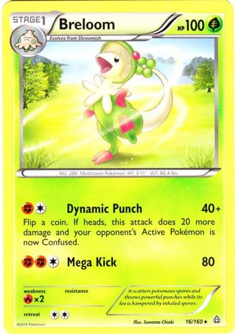Pokemon X & Y Primal Clash Rare Breloom #16