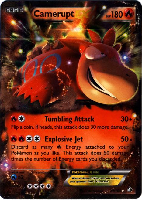 Pokemon X & Y Primal Clash Ultra Rare Camerupt EX #29