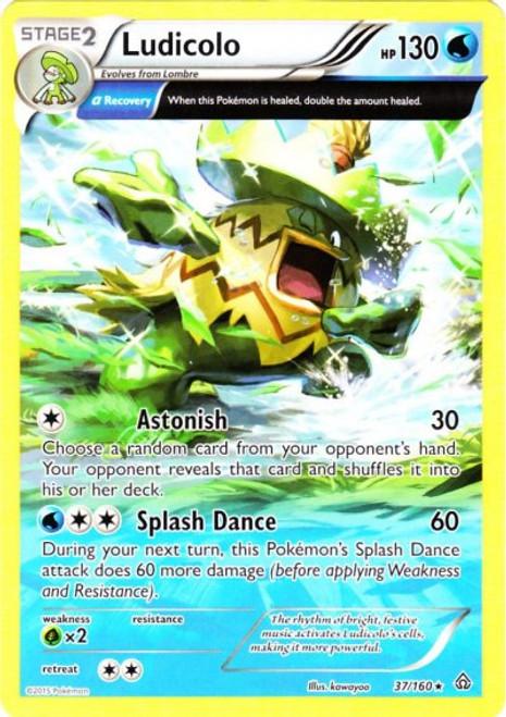 Pokemon X & Y Primal Clash Rare Ludicolo #37